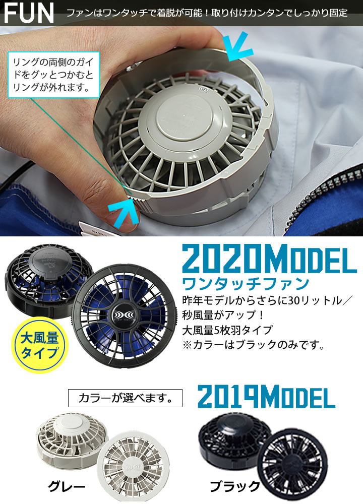 空調服のファン「FAN2200」。